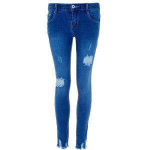J005 Kinder Mädchen Skinny Jeans Hose